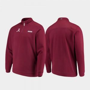 Shep Shirt Mens Alabama Jacket Crimson Quarter-Zip 511834-522