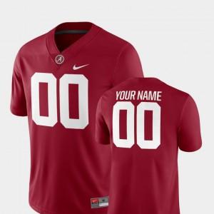 Crimson #00 Men's 2018 Game College Football Alabama Custom Jersey 859462-503