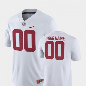 2018 Game White College Football Mens Alabama Customized Jerseys #00 376767-734