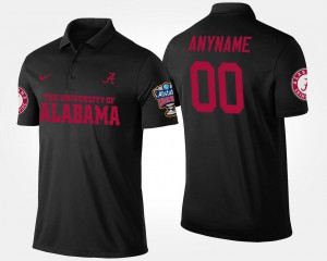 Bowl Game Black Alabama Custom Polo #00 Sugar Bowl For Men's 507938-136