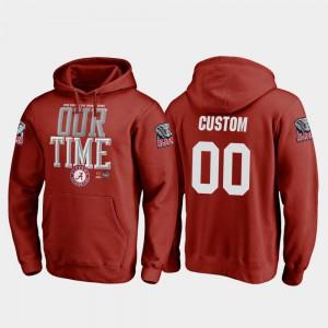 #00 Alabama Customized Hoodie College Football Playoff Counter For Men Crimson 2018 Orange Bowl Bound 257030-881