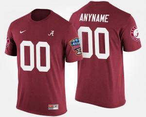 Sugar Bowl Bowl Game Alabama Custom T-Shirts Crimson For Men #00 279072-585