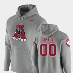 Alabama Custom Hoodie Vault Logo Club Heathered Gray For Men's #00 Pullover 413495-996