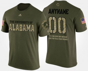 #00 Alabama Customized T-Shirts For Men's Camo Short Sleeve With Message Military 685085-611