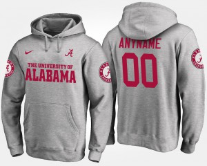 Mens Alabama Customized Hoodie Gray #00 555453-307