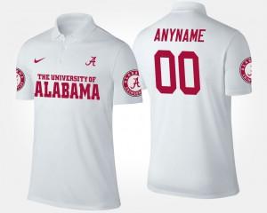White Mens #00 Alabama Customized Polo 584297-144