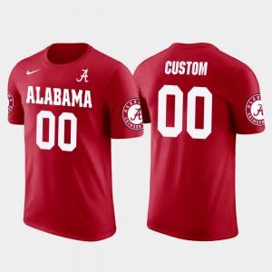 Red Cotton Football Mens Future Stars #00 Alabama Custom T-Shirts 124338-631