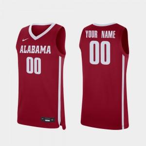 Replica #00 College Basketball For Men's Crimson Alabama Customized Jerseys 214426-395
