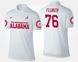 Men's D.J. Fluker Alabama Polo #76 White 800949-641