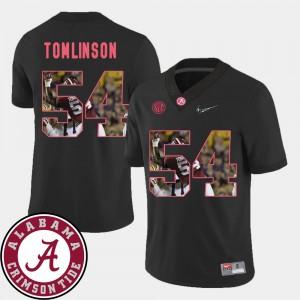 For Men's Pictorial Fashion #54 Football Black Dalvin Tomlinson Alabama Jersey 468888-160