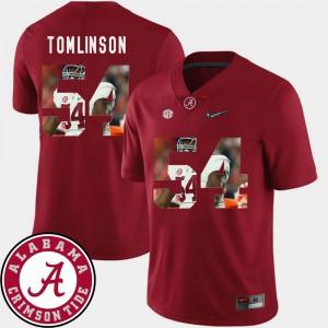 Pictorial Fashion For Men Football #54 Crimson Dalvin Tomlinson Alabama Jersey 507740-656