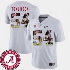 Dalvin Tomlinson Alabama Jersey Men #54 Football Pictorial Fashion White 483681-222