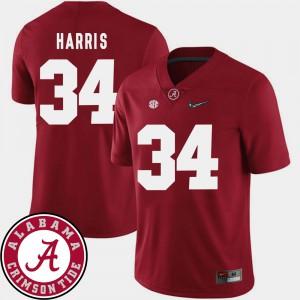 Mens Damien Harris Alabama Jersey 2018 SEC Patch College Football Crimson #34 804906-805