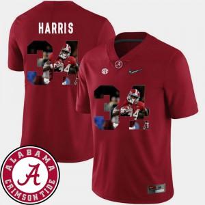 Crimson Pictorial Fashion Men's #34 Damien Harris Alabama Jersey Football 964269-577
