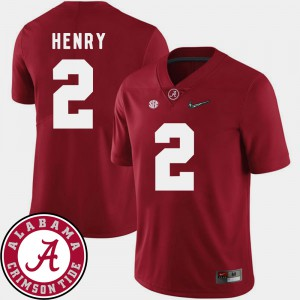 Crimson Derrick Henry Alabama Jersey College Football Men 2018 SEC Patch #2 549623-167