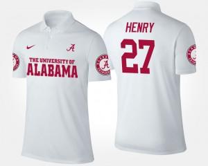 Derrick Henry Alabama Polo For Men's #27 White 478795-243