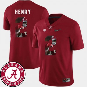 Crimson Men's Derrick Henry Alabama Jersey Pictorial Fashion #2 Football 936703-840