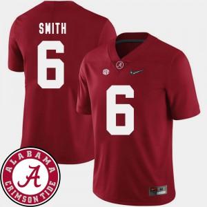 College Football #6 DeVonta Smith Alabama Jersey 2018 SEC Patch Men's Crimson 301559-872