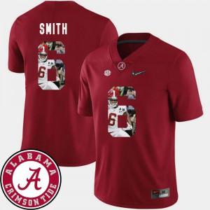 #6 Football Crimson Pictorial Fashion DeVonta Smith Alabama Jersey Mens 161401-481
