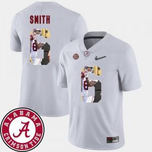 Pictorial Fashion DeVonta Smith Alabama Jersey Football #6 Mens White 580505-737