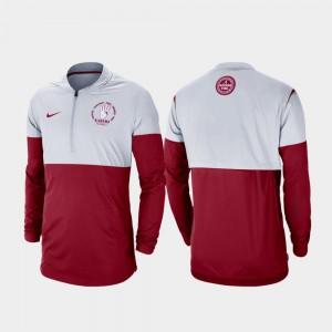 Rivalry Gray Crimson Football Half-Zip For Men's Alabama Jacket 795377-149