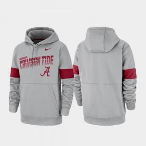 Mens Pullover Gray Alabama Hoodie Performance 655647-708