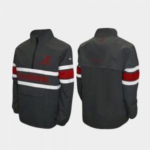 Alabama Jacket Quarter-Zip Alpha Windshell Pullover Gray For Men's 324981-351