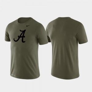 Alabama T-Shirt Men's Green Performance Tonal Logo Legend 636147-780