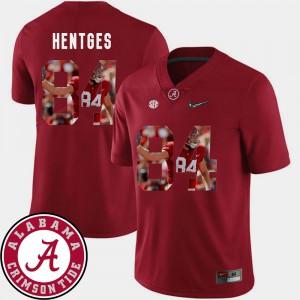 Hale Hentges Alabama Jersey Crimson Pictorial Fashion #84 Mens Football 493871-827