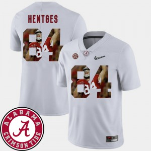 #84 White Hale Hentges Alabama Jersey Mens Football Pictorial Fashion 510550-721