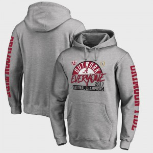 Bowl Game Men's College Football Playoff 2017 National Champions Motion Heather Gray Alabama Hoodie 929022-928