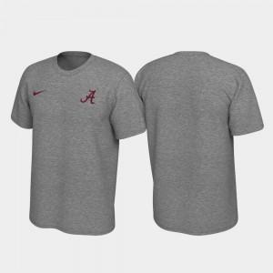Men Left Chest Logo Alabama T-Shirt Legend Heathered Gray 192864-582