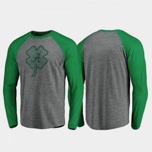 Raglan Long Sleeve Celtic Charm Heathered Gray Alabama T-Shirt Men's St. Patrick's Day 757699-708