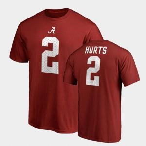 Crimson For Men's College Legends Name & Number Jalen Hurts Alabama T-Shirt #2 439638-428