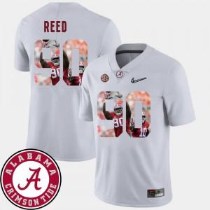 Jarran Reed Alabama Jersey Football #90 Mens White Pictorial Fashion 287133-283