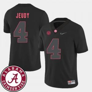 #4 2018 SEC Patch Black College Football Mens Jerry Jeudy Alabama Jersey 359170-438