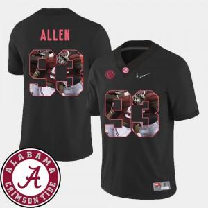 Mens Football Pictorial Fashion Jonathan Allen Alabama Jersey Black #93 471383-661