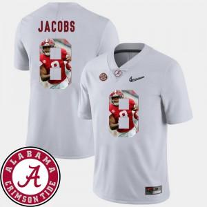 For Men's Josh Jacobs Alabama Jersey Pictorial Fashion #8 White Football 514629-325