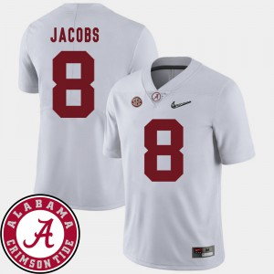 2018 SEC Patch #8 White Josh Jacobs Alabama Jersey Mens College Football 300011-365