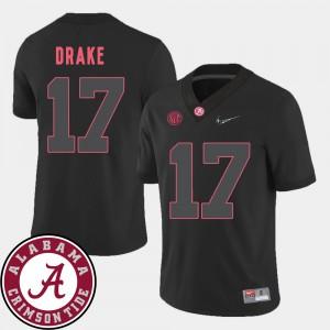 2018 SEC Patch #17 Kenyan Drake Alabama Jersey College Football Black For Men's 999533-617