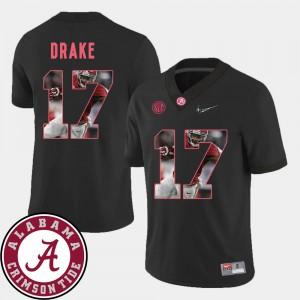 Pictorial Fashion Kenyan Drake Alabama Jersey For Men's Black #17 Football 322809-903