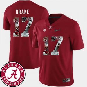 Football Kenyan Drake Alabama Jersey Crimson Mens #17 Pictorial Fashion 945338-537