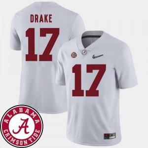 White College Football For Men's Kenyan Drake Alabama Jersey #17 2018 SEC Patch 537728-182