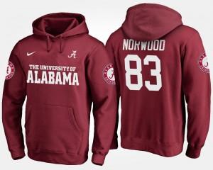 Men Crimson Kevin Norwood Alabama Hoodie #83 172148-431