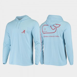 Men Hooded Long Sleeve Alabama T-Shirt Light Blue Whale 415924-140