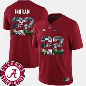 Crimson Football #22 Pictorial Fashion Mark Ingram Alabama Jersey Men's 117253-351