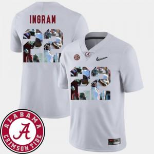 Mark Ingram Alabama Jersey Men #22 Football Pictorial Fashion White 154701-367