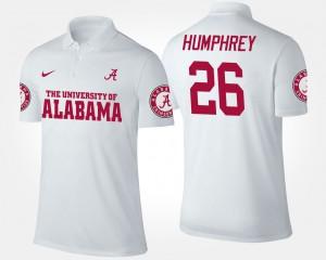 Marlon Humphrey Alabama Polo For Men White #26 266233-860