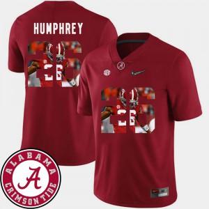 Pictorial Fashion #26 Crimson Football Mens Marlon Humphrey Alabama Jersey 136599-592