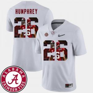 Football Pictorial Fashion #26 White Marlon Humphrey Alabama Jersey Mens 142694-791